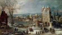 Зимний пейзаж - Брейгель, Ян (Старший)