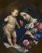 Мадонна с младенцем и цветами - Дольчи, Карло