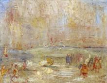 Карнавал на пляже, 1887 - Энсор, Джеймс