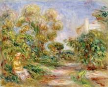 Женщина на фоне пейзажа - Ренуар, Пьер Огюст