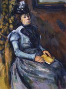 Сидящая женщина в синем - Сезанн, Поль