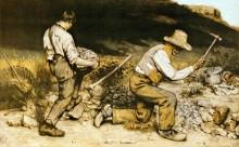 Каменоломы (картина утеряна во время ВОВ) - Курбе, Гюстав