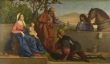Воин, поклоняющийся Мадонне и Младенцу - Катена, Винченцо