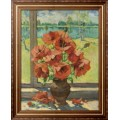 Натюрморт с цветами -  Лапшин, Георгий Александрович