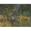 Вечер в Париже - Коровин, Константин Алексеевич