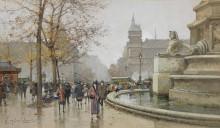Пальмовый фонтан на площади Шатле - Гальен-Лалу, Эжен