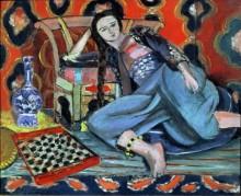 Одалиска с турецким стулом - Матисс, Анри