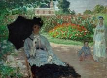 Камилла, Жан и няня в саду - Моне, Клод