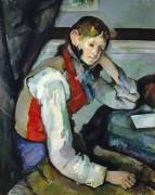 Мальчик в красном жилете IV - Сезанн, Поль