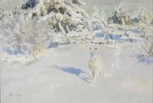 Зимний пейзаж с зайцем - Лильефорс, Бруно