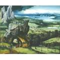 Пейзаж со святым Иеронимом - Патинир, Иоахим