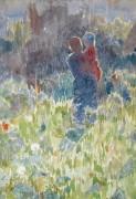 Мать и дитя в саду, залитом солнечным светом - Клаус, Эмиль