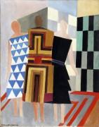 Три женщины, формы, цвета - Делоне, Соня