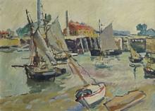Парусники в порту во время отлива, Уистреам - Вальта, Луи