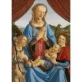 Мадонна и ребенок с ангелом - Винчи, Леонардо да