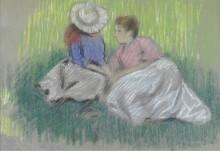 Дама и ребенок на траве -  Зандоменеги,  Федерико