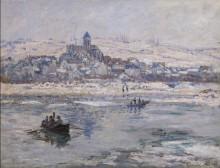 Зимний пейзаж с видом на Ветёй - Моне, Клод