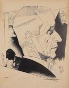 Портрет пианиста Константина Игумнова. Ок. 1920 - Анненков, Юрий Павлович