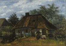 Хижина и женщина с козой (Cottage and Woman with Goat), 1885 - Гог, Винсент ван