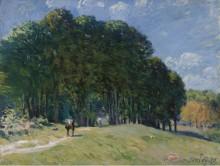 Всадник на опушке леса, 1875 - Сислей, Альфред