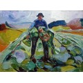 Мужчина на капустном поле - Мунк, Эдвард