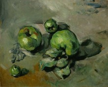 Натюрморт с зелеными яблоками - Сезанн, Поль