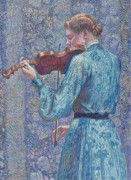 Theo van Rysselberghe - Woman Playing Violin, 1903 - Рейссельберге, Тео ван