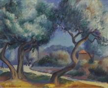 Фигуры на пути к дому, 1922 -  Адамс, Кеннет Миллер