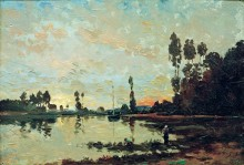 Закат над Уазой - Добиньи, Шарль-Франсуа