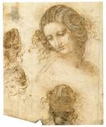 Рисунок женской головы к утраченной картине Леда - Винчи, Леонардо да