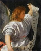 Полиптих Аверольди, фрагмент - Ангел Благовещения - Тициан Вечеллио