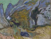 Овраг с небольшим ручьем (Ravine with a Small Stream), 1889 - Гог, Винсент ван