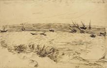 Пляж в Сент-Мари-де-ла-Мер, 1888 - Гог, Винсент ван