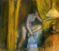 Пора спать (Женщина гасит лампу), 1883 - Дега, Эдгар