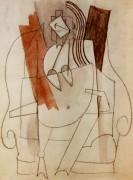Женщина, сидящая в кресле, 1914 - Пикассо, Пабло