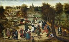 Возвращение из церкви - Брейгель, Питер (Младший)