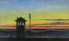 Закат над железной дорогой - Хоппер, Эдвард