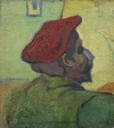Поль Гоген (мужчина  в красном берете) (Paul Gauguin (Man in a Red Beret), 1888 - Гог, Винсент ван
