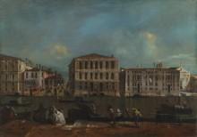 Венеция - Гранд-канал с Палаццо Пезаро - Гварди, Франческо