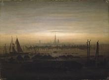 Грайфсвальд в лунном свете, 1816-17 - Фридрих, Каспар Давид