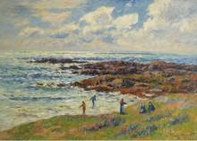 Сбор водорослей в Невец, 1908 - Море, Анри