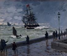 Пристань в Гавре в плохую погоду - Моне, Клод