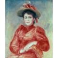 Молодая женщина в красной блузе - Ренуар, Пьер Огюст