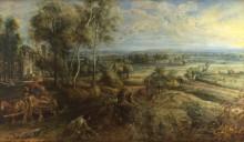 Пейзаж с замком Стен, раннее утро -  Рубенс, Питер Пауль