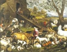 Животные входят в ковчег, 1570 - Бассано, Ждакобо