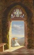 Ольга фон Мольтке, рисующая пейзаж у замка Ортенберг - Беркхольц, Александра фон