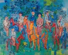 Группа всадников в лесу - Дюфи, Рауль