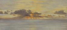 Морской пейзаж на закате дня - Бретт, Джон