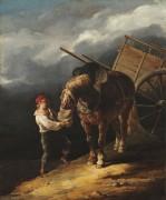 Мальчик, кормящий овсом свою лошадь - Жерико, Теодор Жан Луи Андре