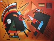 Черный и фиолетовый, 1923 - Кандинский, Василий Васильевич